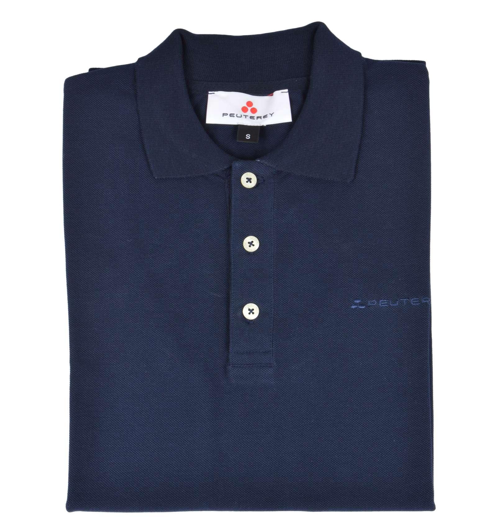 new product 7458f 4ee07 PEUTEREY uomo maglia polo blu scuro manica corta CALEDONIAN14 TIES 215