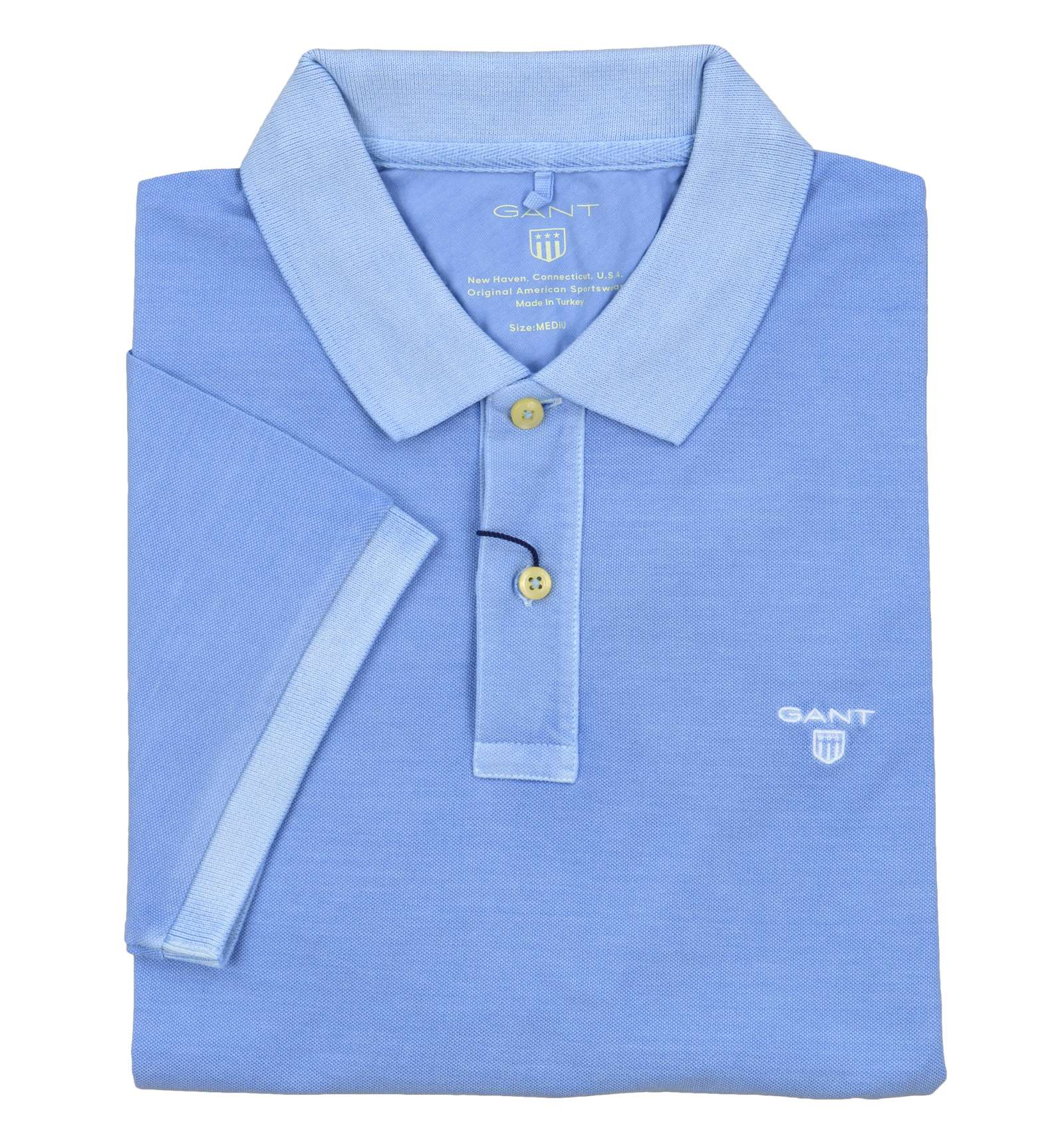 60d7c7d9d GANT man bleached light blue polo shirt 2052028 468 CAPRI BLUE