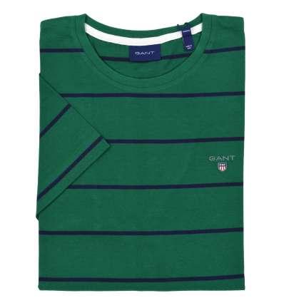 GANT uomo maglia T-shirt verde fantasia righe 2003038 373 IVY GREEN
