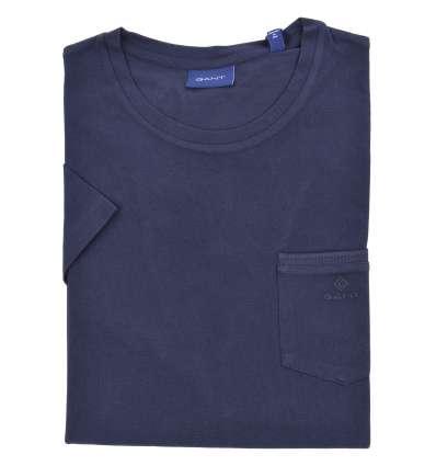 GANT man blue pique T-shirt with pocket 2003042 433 EVENING BLUE
